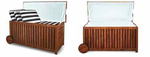 Polsterauflagenbox Holz